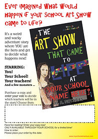 """""""Enter Your Vote"""" school advertising poster: The Art Show That Came To Life At [Your School  Name Here]"""