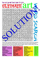 Ultimate Art Word Search - Solution