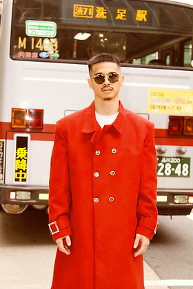 Cherry Red Wool Coat
