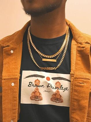 Block Brown Privilege  T-Shirt