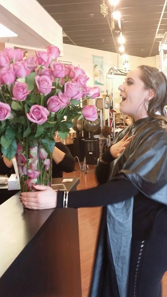 girl getting roses 2