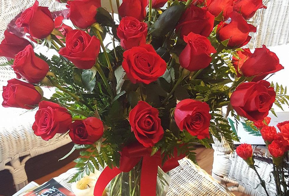 2 Dozen Long Stem Roses