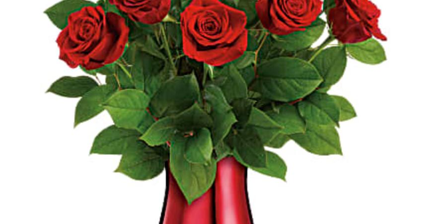 Tefeflora's Rouge Romance Bouquet