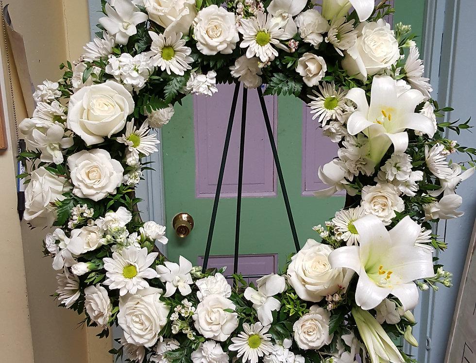 Deluxe White Wreath