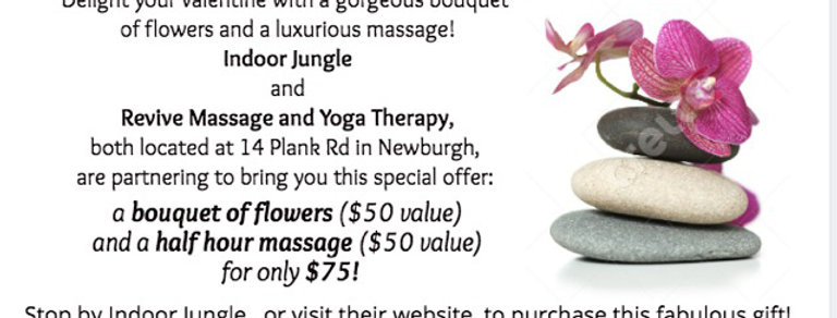 Flowers & Massage Gift Certificate