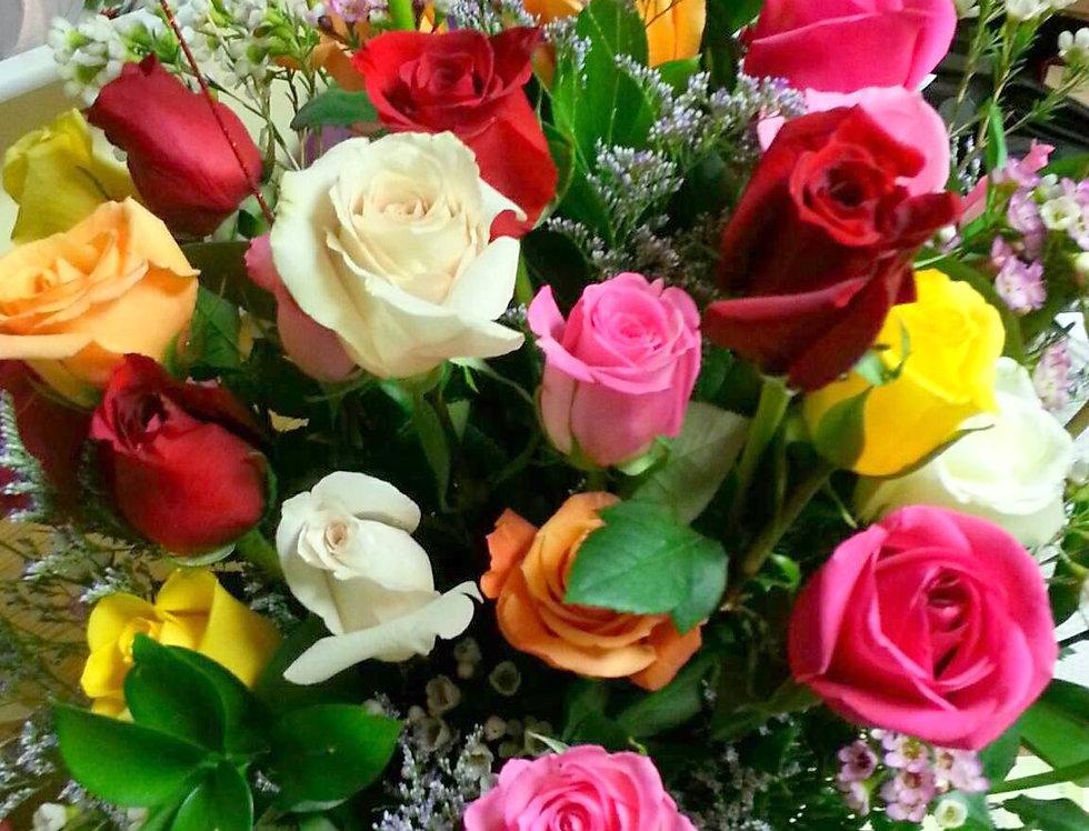 2 Dozen Kaleidoscope Roses