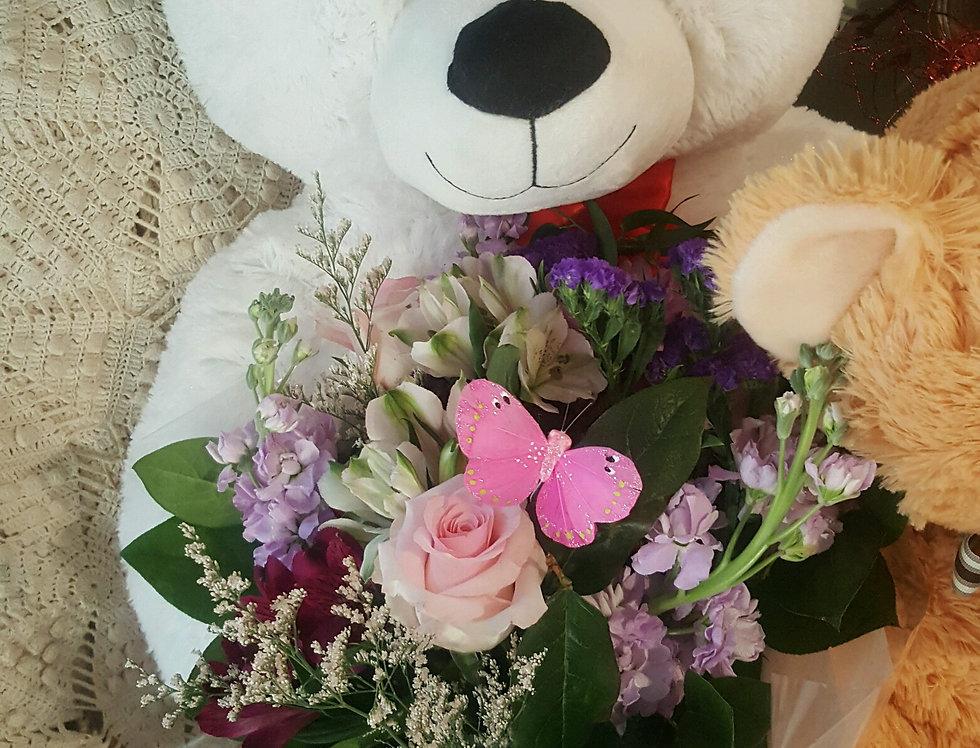 Teddy Bring Me Flowers Premium Size