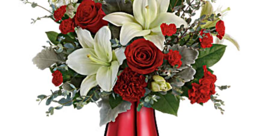 Teleflora's Radiantly Rouge Bouquet