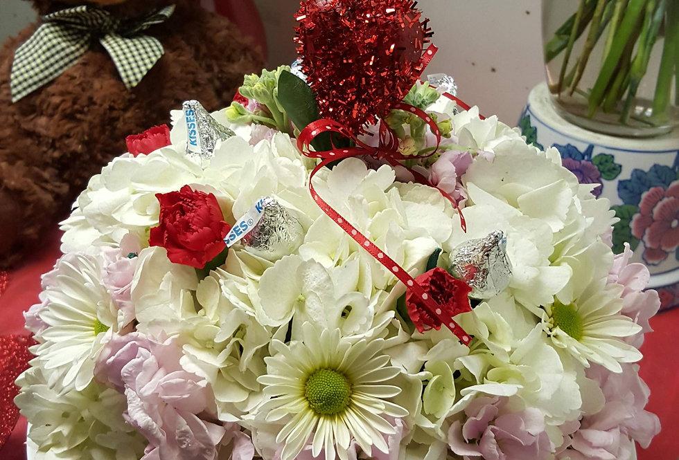 Valentine Kisses Cake