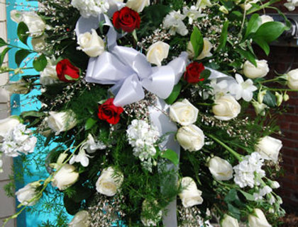 Traditional Sympathy Spray with Roses