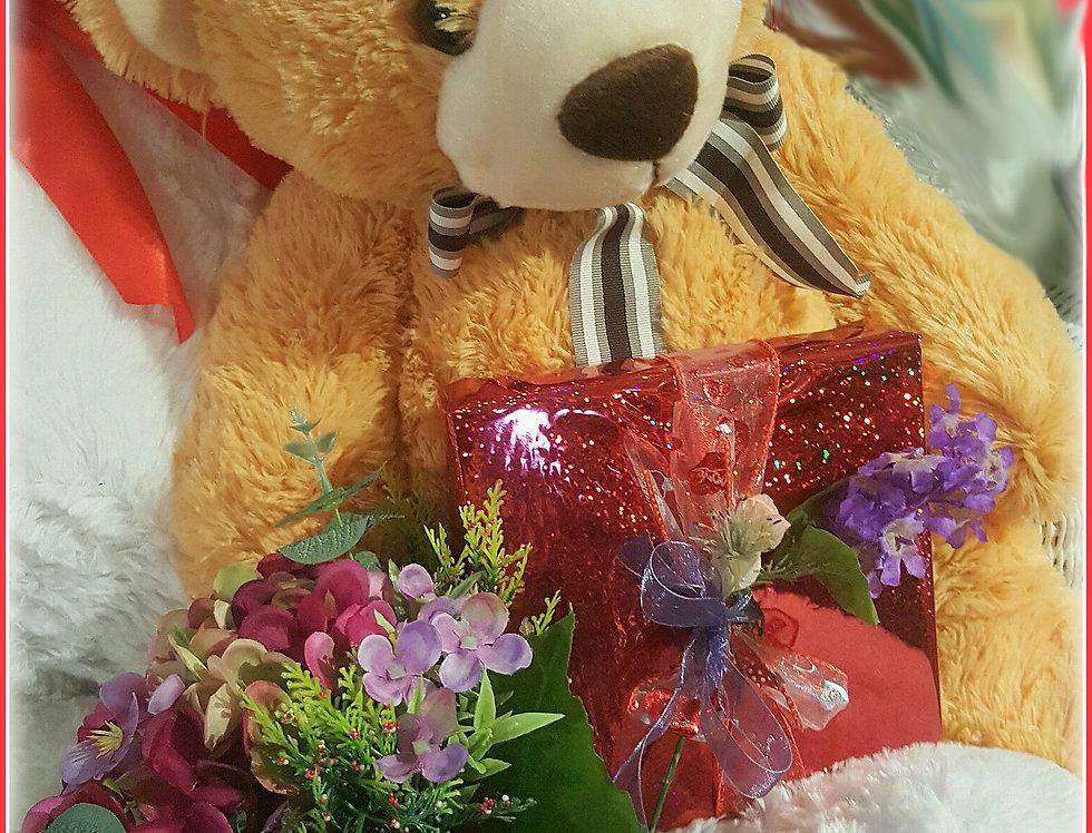 Teddy Bring Me Blooms & Sweets