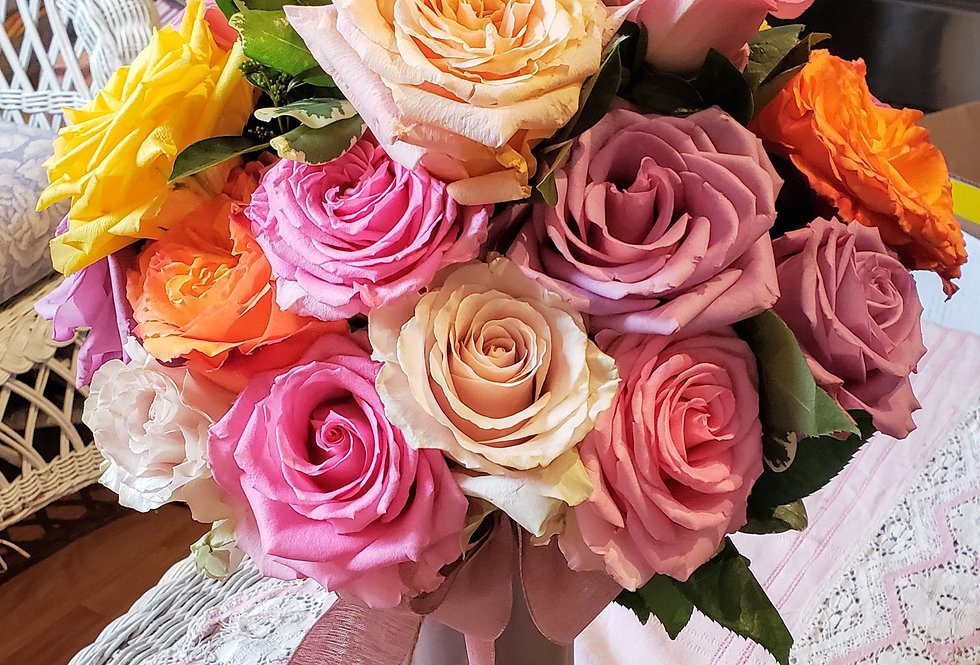 Sunset of Roses Bouquet-(24)