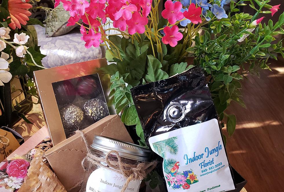 Coffee & Flower Lovers Basket