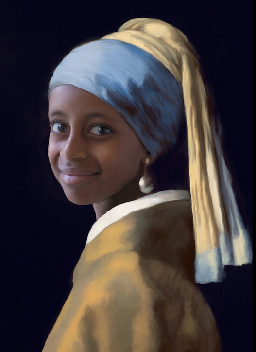Ethopian Girl with the Pearl Earring