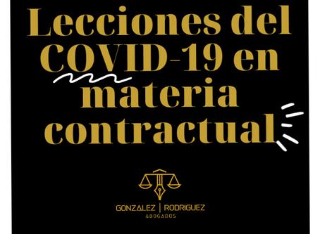 Lecciones del COVID-19 en materia contractual.