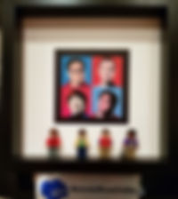Big Bang Theory Sheldon Cooper BrickBox Minifigure frame