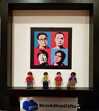Big Bang Theory Sheldon Cooper BrickBox Minifigure frame