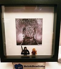 Game of Thrones Jon Snow Tyrian BrickBox Minifigure frame