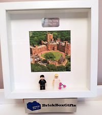 Custom Wedding BrickBox Minifigure frame