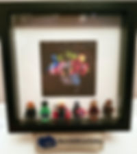 Marvel Avengers BrickBox Minifigure frame