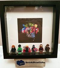 Marvel Avengers BrickBox Minifigure frame