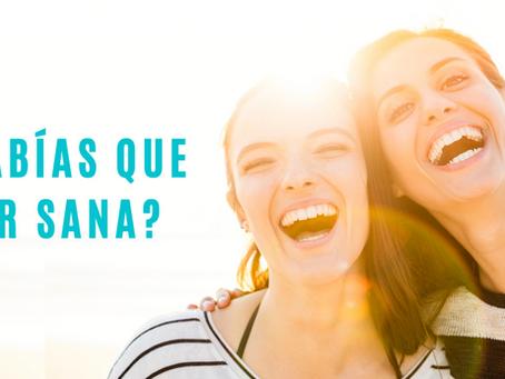 ¿Sabías que reír sana?
