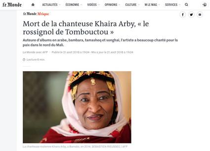 Le Monde - 21 août 2018