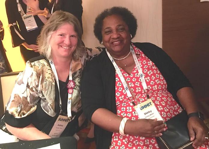 Montana Rep. Andrea Olsen and California Asm. Shirley Weber
