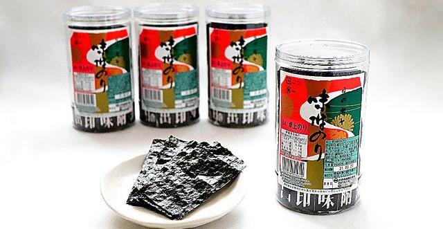 徳島県のご当地スーパー食「卓上のり」マル一大野海苔