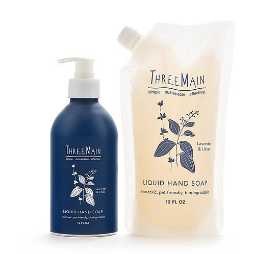 Refillable Liquid Hand Soap by THREE MAIN