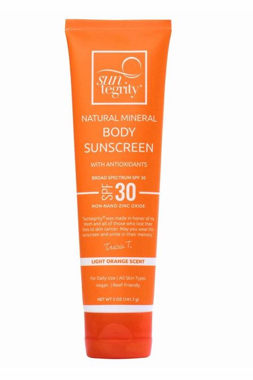 Suntegrity Natural Mineral Body Sunscreen - Broad Spectrum SPF 30