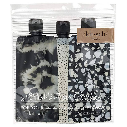 Refillable Travel Pouches 3pc by KITSCH
