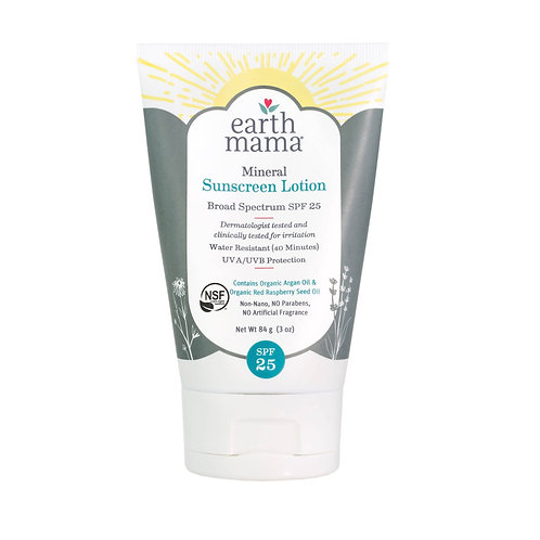 Mineral Sunscreen Lotion for Adults by EARTH MAMA