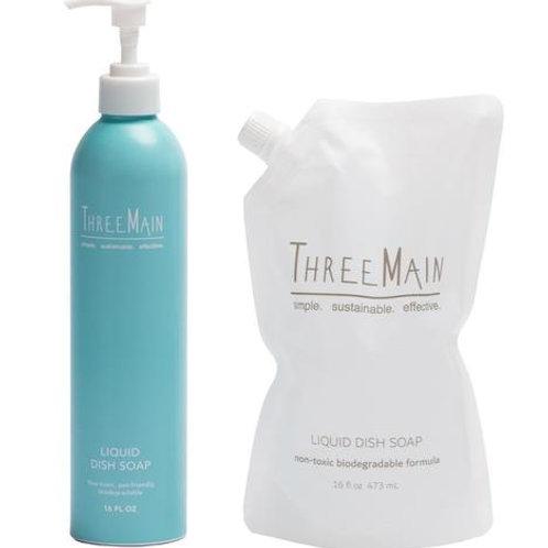 Refillable Dish Soap by THREE MAIN