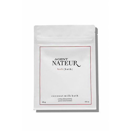 h o l i ( b a t h ) soothing hydrating calming coconut milk bath by AGENT NATEUR