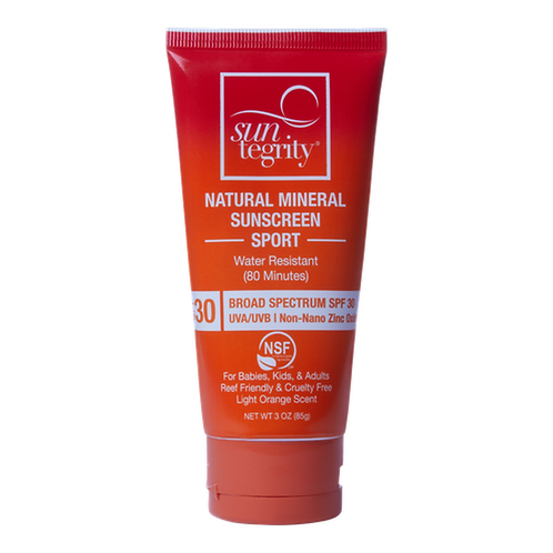Suntegrity Sport Natural Mineral Sunscreen, 3oz. - Broad Spectrum SPF 30