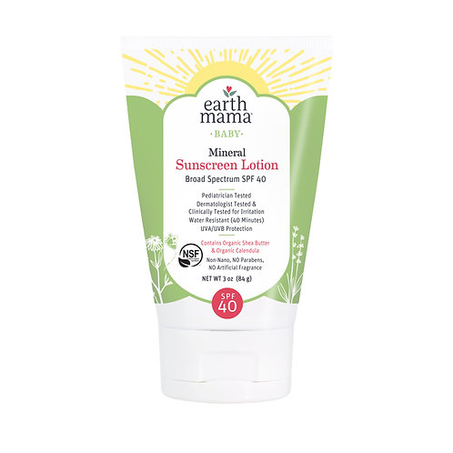 Baby Mineral Sunscreen Lotion - SPF 40 by EARTH MAMA