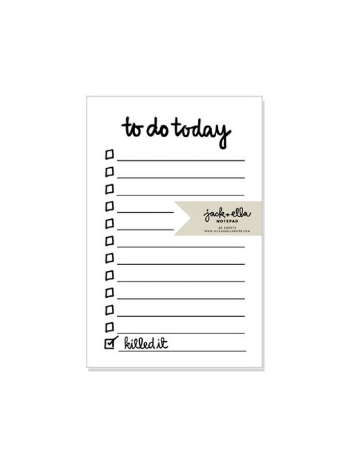 Notepad: Daily To Do List by JACK & ELLA PAPER