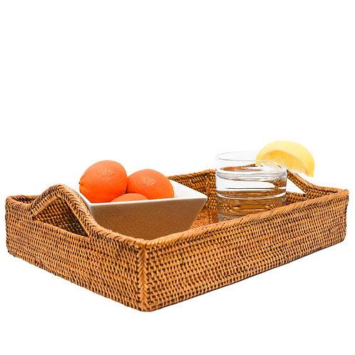 Medium Rattan Tray with Handles