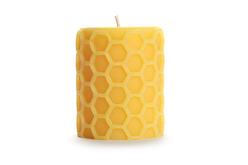 Beeswax Honeycomb Pillar by Big Dipper Wax Works