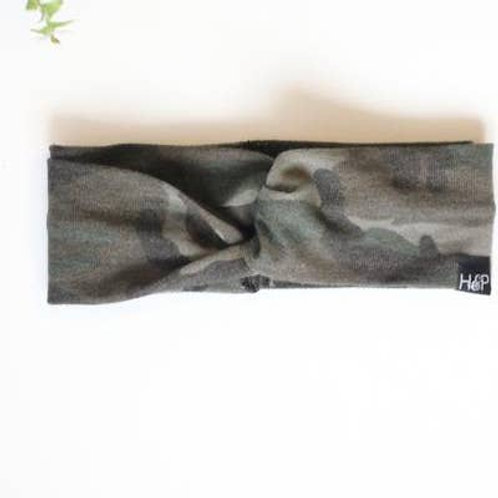 Into the Wild Camo Turban Headband by HARTS & PEARLS