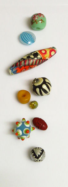 Handpainted bead info and history of beads