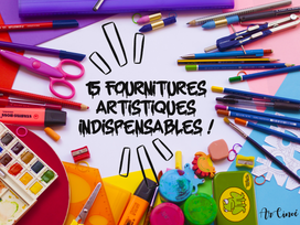 15 fournitures artistiques indispensables