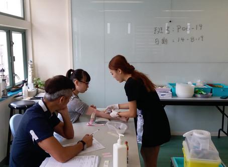 P06-19 抽血考試實况