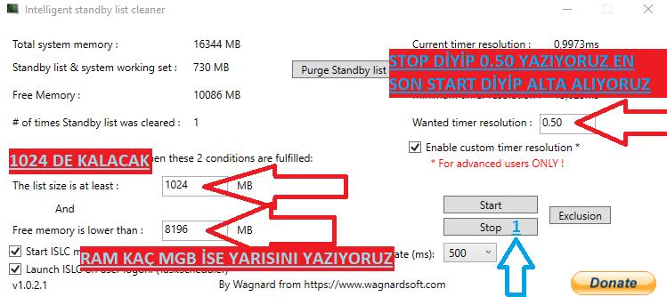 standby list cleaner, standby list cleaner türkçe, standby list cleaner nasıl kullanılır