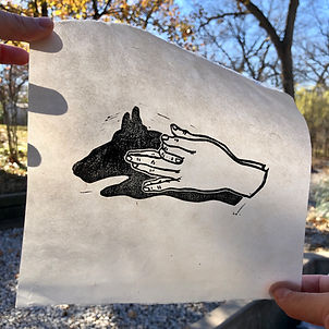 Shadow Puppet, printed on Thai kozo mulberry paper