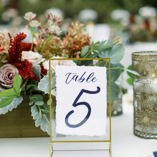 Table numbers for wedding reception