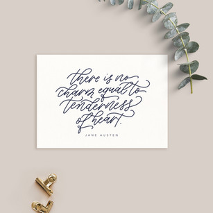 Modern monoline calligraphy quote