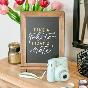 Wedding guest book chalkboard sign
