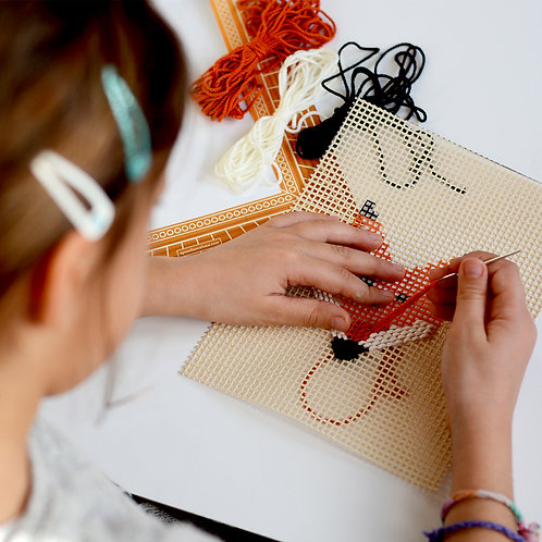 Embroidery Kit: Pre-printed Canvas